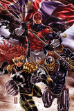 Revolutionary War: Omega No. 1: Captain Britain, Dark Angel, Deaths Head II Poster