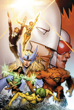 Alpha Flight No. 0.1: Marrina, Shaman, Sasquatch, Snowbird, Northstar, Aurora, Guardian, Vindicator Prints