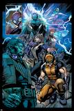 Avenging Spider-Man No. 16: Spider-Man, Storm, Beast, Iceman, Wolverine, Shadowcat, Lockheed Prints