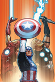 Ultimate Comics Ultimates No. 18.1: Captain America, Thor, Iron Man Print