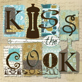 Kiss the Cook Kunstdruck von Carol Robinson