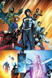 New Warriors No. 4: Justice, Speedball, Haechi, Nova, Scarlet Spider, Water Snake, Hummingbird Posters