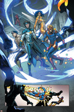 New Warriors No. 4: Justice, Speedball, Haechi, Sun Girl, Nova Posters