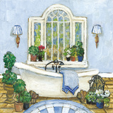 Pampered Bath I Art by Charlene Olson