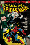 Marvel Comics Retro Style Guide: Spider-Man, Black Cat Posters