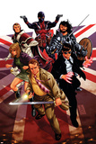 Revolutionary War: Knights of Pendragon No. 1: Wisdom, Pete, McLellan, Kate, Albion, Union Jack Print