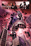 New Avengers No. 4: Galactus, Mr. Fantastic, Iron Man, Black Panther, Black Bolt Print