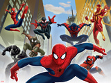 Ultimate SpiderMan - Web Warriors Situational Art Print
