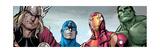 Avengers Assemble Style Guide: Thor, Captain America, Iron Man, Hulk Plakat