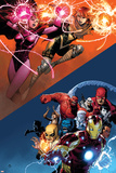 AVX: VS No. 6: Scarlet Witch, Summers, Hope, Iron Man, Red Hulk Print