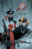 Deadpool No. 17: Deadpool, Captain America, Wolverine Poster