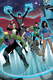 Young Avengers No. 7: Miss America, Marvel Boy, Hawkeye, Hulkling, Loki, Wiccan Posters