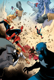 Avengers No. 34: Captain Marvel, Captain America, Iron Fist, Spider-Man Prints