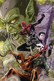 Superior Spider-Man Team-Up No. 10: Punisher, Spider-Man, Daredevil, Green Goblin Affischer