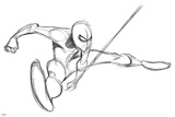 Ultimate SpiderMan - Animation 2014 Storyboard Sketches Photo