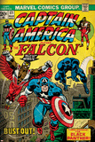 Marvel Comics Retro Style Guide: Falcon, Captain America Photo