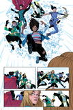 Young Avengers No. 9: Wiccan, Loki, Bishop, Kate, Noh-Varr, Miss America, Hulkling Poster