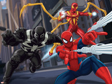 Ultimate SpiderMan - Web Warriors Situational Art Poster