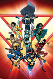 New Warriors No. 1: Speedball, Justice, Nova, Scarlet Spider, Aracely, Water Snake, Sun Girl Prints