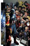 Infinity No. 1: Captain America, Captain Marvel, Iron Man, Black Widow, Thor, Hawkeye, Falcon Plakater