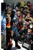 Infinity No. 1: Captain America, Captain Marvel, Iron Man, Black Widow, Thor, Hawkeye, Falcon Prints
