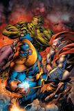 Avengers Assemble No. 8: Thanos, Thor, Hulk Posters