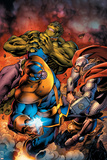 Avengers Assemble No. 8: Thanos, Thor, Hulk Posters