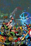 Thanos: The Final Threat No. 1: Thor, Captain America, Iron Man, Vision, Thanos Plakater