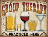 Group Therapy Cartel de chapa