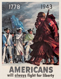 Americans - Fight for Liberty Tin Sign