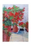 Geraniums and Petunias on the Terrace, 2011 Giclee Print by Joan Thewsey