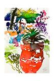 Vase Rouge, Maroc 2013 Giclee Print by Simon Fletcher