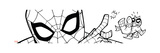 Ultimate SpiderMan - Fall 2013 Panel Line Art Print