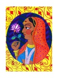 Maharani with White and Pink Flower, 2011 Giclee Print by Jane Tattersfield
