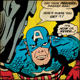 Marvel Comics Retro Style Guide: Captain America Print