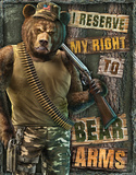 Right Bear Arms Tin Sign