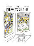 The New Yorker Cover - February 28, 1994 Premium Giclee Print by Saul Steinberg