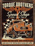 Torque Bros. Gasser Tin Sign