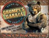 Grumpy's Garage - Metal Tabela