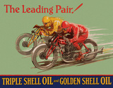 Shell - Leading Pair Tin Sign