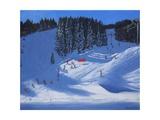 Ski School, Morzine, 2014 Giclee Print by Andrew Macara