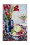 Tulips in a Jug,With a Glass Bowl 2003 Giclee Print by Joan Thewsey