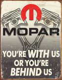 Mopar - Behind Us Tin Sign