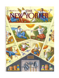 The New Yorker Cover - April 22, 1991 Regular Giclee Print by Bob Knox