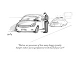 """Ma'am, are you aware of how many braggy, preachy bumper stickers you've g…"" - New Yorker Cartoon Premium Giclee Print by Julia Suits"