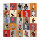 Rioters, 2014 Giclee Print by Eliza Southwood