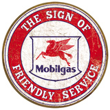 Mobil - Friendly Service Tin Sign
