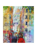 An Evening Walk to Sacre Coeur Giclee Print by Sylvia Paul