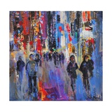 Tokyo Night Giclee Print by Sylvia Paul