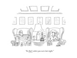 """So that's where you were last night."" - New Yorker Cartoon Premium Giclee Print by Jack Ziegler"